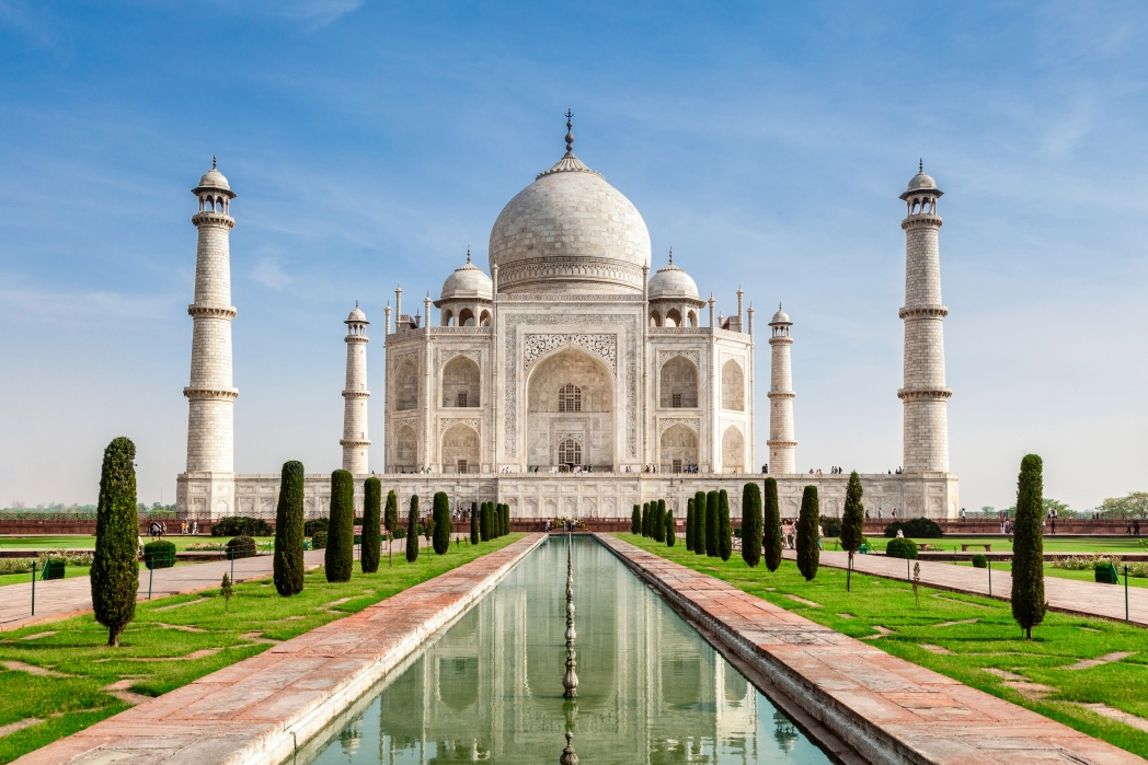 Taj Mahal, solnedgang