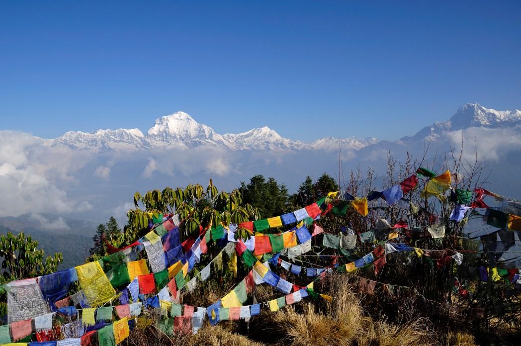 Landsbyer ved foden af Himalaya bjergene