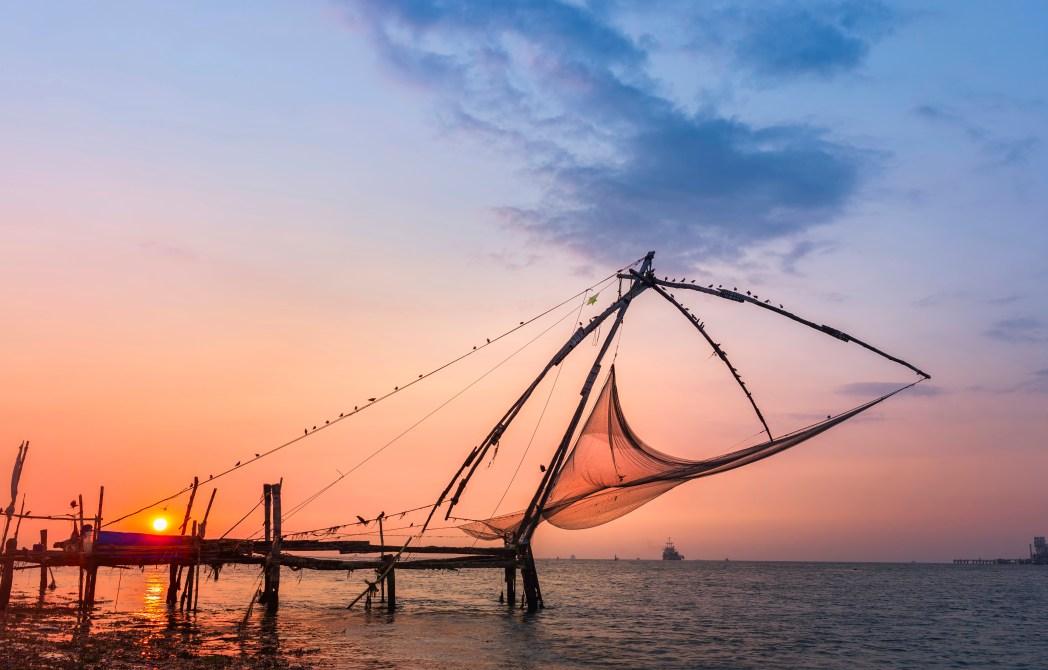 Kinesiske fiskenet i Kochi
