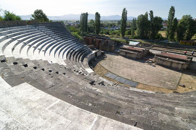 Amphitheatre i Bitola, Makedonien.