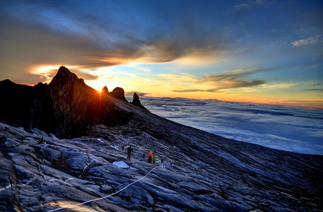 Gunung Kinabalu på Borneo, Malaysia