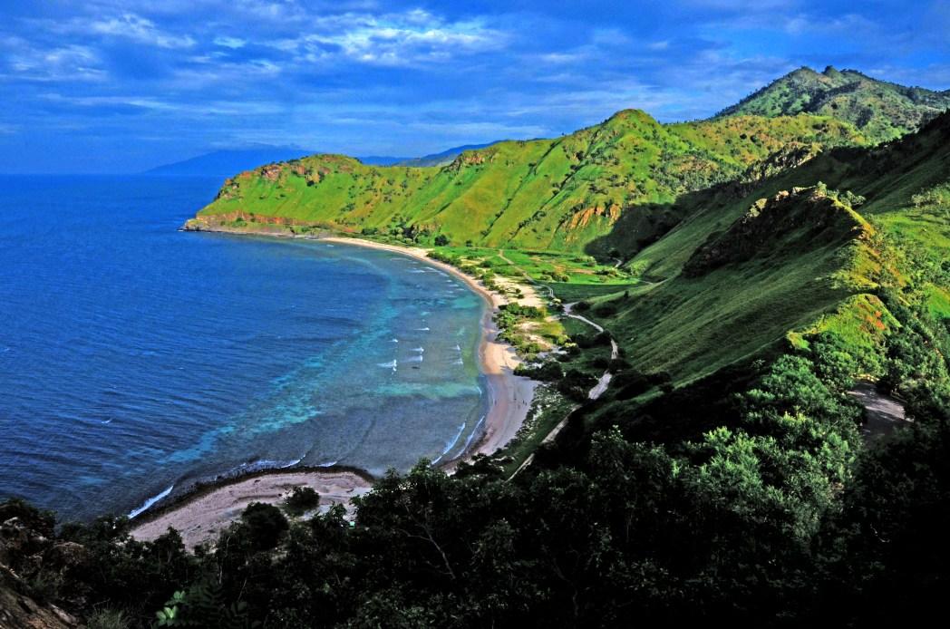 Udsigt fra Cristo Rei, Dili, Østtimor